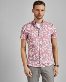 Peachy Floral Print Cotton Shirt - Clothes make the man