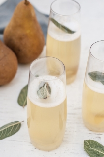 Pear & Ginger Champagne Cocktails - Food & Drink