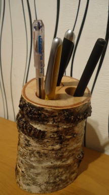Pen holder office equipment Wooden birch READY TO SHIP - So hot!