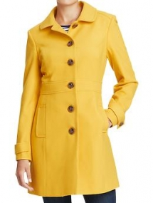 Peter Pan Collar Wool Blend Coat - Gifts