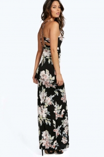 Petit Katie Slinky Black Detail Maxi Dress by Boohoo Petit  - My Summer Fashion