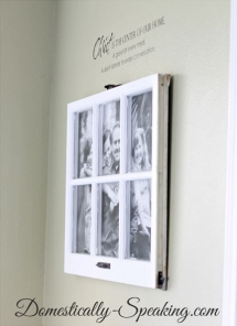 Photo display with old window  - Ideas for the home