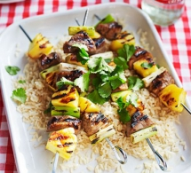 Pineapple & Pork Skewers - Healthy Eating