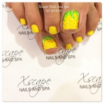 Pineapple toenail design - Nails