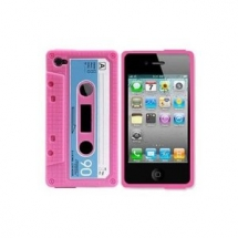 Pink Cassette Tape Case for Apple iPhone 4 /4G - Geeky Gifts
