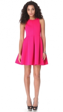 Pink Neoprene Sleeveless Dress - Fave Clothing & Fashion Accessories