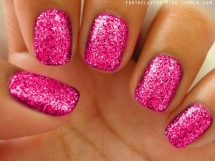 Pink sparkle nails - Nail Art