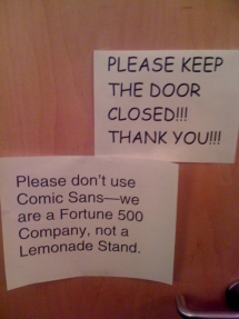 Please don't use comic sans - Funny Stuff
