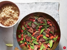 Pork Stir-Fry with Snow Peas - Cooking