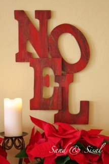 Pottery Barn Inspired Noel Tutorial - Christmas Decoration