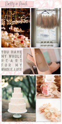 Pretty in Peach - Wedding Ideas