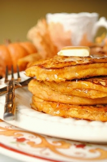 Pumpkin Pancakes - Crazy for Pumpkin