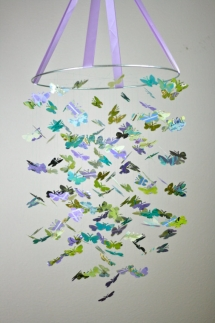 Purple Garden Butterfly Mobile - For the new arrival