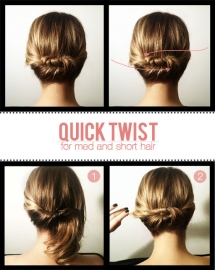 Quick Twist for Medium and Short Hair - Fave hairstyles