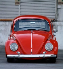 Red VW Beetle - Cars & Motorcyles