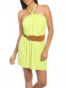 Reverse Halter Belted Dress - Fave Clothing & Fashion Accessories