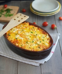 Roasted Cauliflower Tomato and Goat Cheese Casserole - Cooking