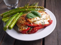 Roasted Red Pepper, Mozzarella and Basil Stuffed Chicken - Favorite Recipes