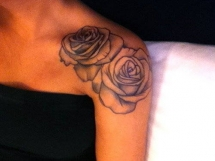 Rose tattoo on shoulder - Tattoo ideas