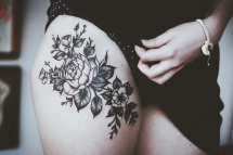 Rose thigh tattoo - Tattoo ideas