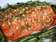 Rosemary and Garlic Roasted Salmon - Salmon Recipes
