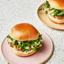 Salmon Burgers with Pickled Cucumbers - Salmon Recipes