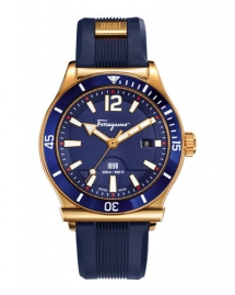 Salvatore Ferragamo 1898 Rubber-Strap Sport Watch, Blue - Watches