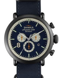Shinola 47mm Runwell Chronograph Nylon Watch, Navy - Watches