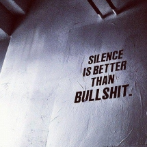 Silence is better than bullshit - Great Sayings & Quotes