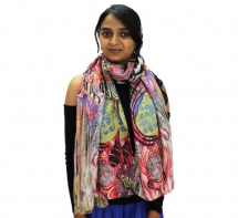 Silk Scarves for women | long silk scarves | Designer scarves - Tunic and Tops | Indian clothing