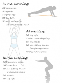 Simple exercises for the morning, midday, and evening - At Home Exercises