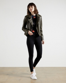 Skinny Zip Cuff Ponti Jeggings - Winter Wardrobe