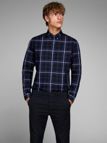 Slim Fit Checkered Dress Shirt - Man Style
