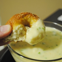 Soft Pretzels with Jalapeno Cheese Sauce - What's for dinner?