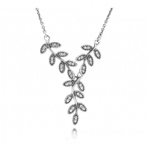 Sparkling Leaves Drop Necklace by Pandora  - Jewelry