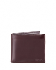 Spazzolato Leather Hip-Fold, Cordovan - Wallets