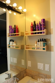 Spice rack into a bathroom organizer - For the home
