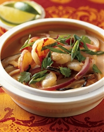 Spicy Shrimp and Coconut Noodle Soup with Shiitake Mushrooms - Soups