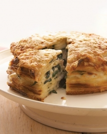 Spinach-Gruyere Gateau de Crepes - I love to cook