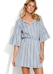 Splendour Dobby Stripe Dress - Spring Wardrobe