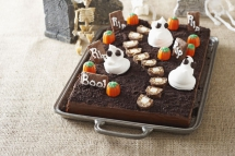 Spooky Cemetery Cake - I love to cook