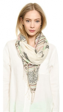 Spun Scarves by Subtle Luxury Native Hand Woven Jacquard Scarf - Fave Clothing, Shoes & Accessories