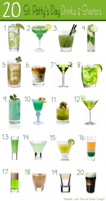 St Patrick's Day drinks & shooters - St. Patrick's Day