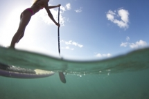 Stand Up Paddleboarding (SUP) in the clear waters of Hawaii - SUP - Stand Up Paddleboarding