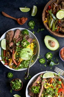 Steak Fajita Burrito Bowls - I love to cook