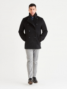 Stewart StormLux Wool Cashmere Peacoat - Man Style