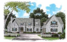 Stone French Country House Plan - Country Farmhouse