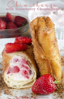 Strawberry Cheesecake Chimichangas  - Desserts