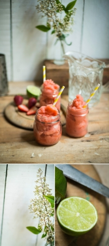 Strawberry & Mint Riesling Slushie - Food & Drink