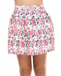 Stretch Cupcake Floral Skirt by Freestyle - My Summer Fashion